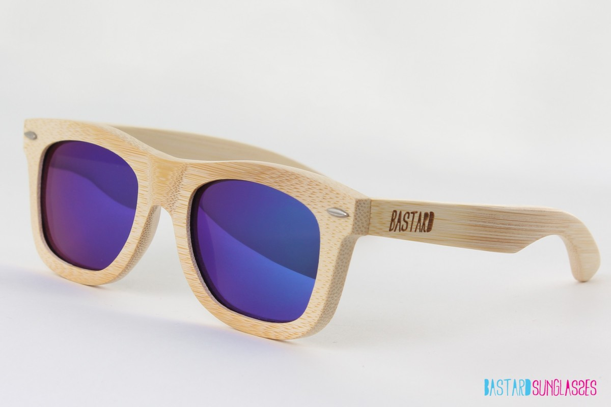 Bamboe Zonnebril - The Classic, Blue Curacao - Bastard Sunglasses