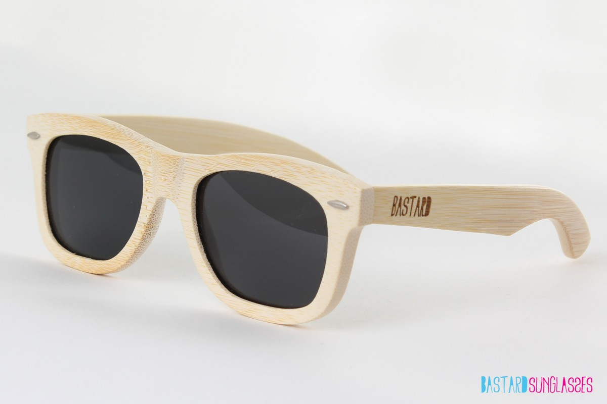 Bamboo Sunglasses - The Classic, Anthracite - Bastard Sunglasses
