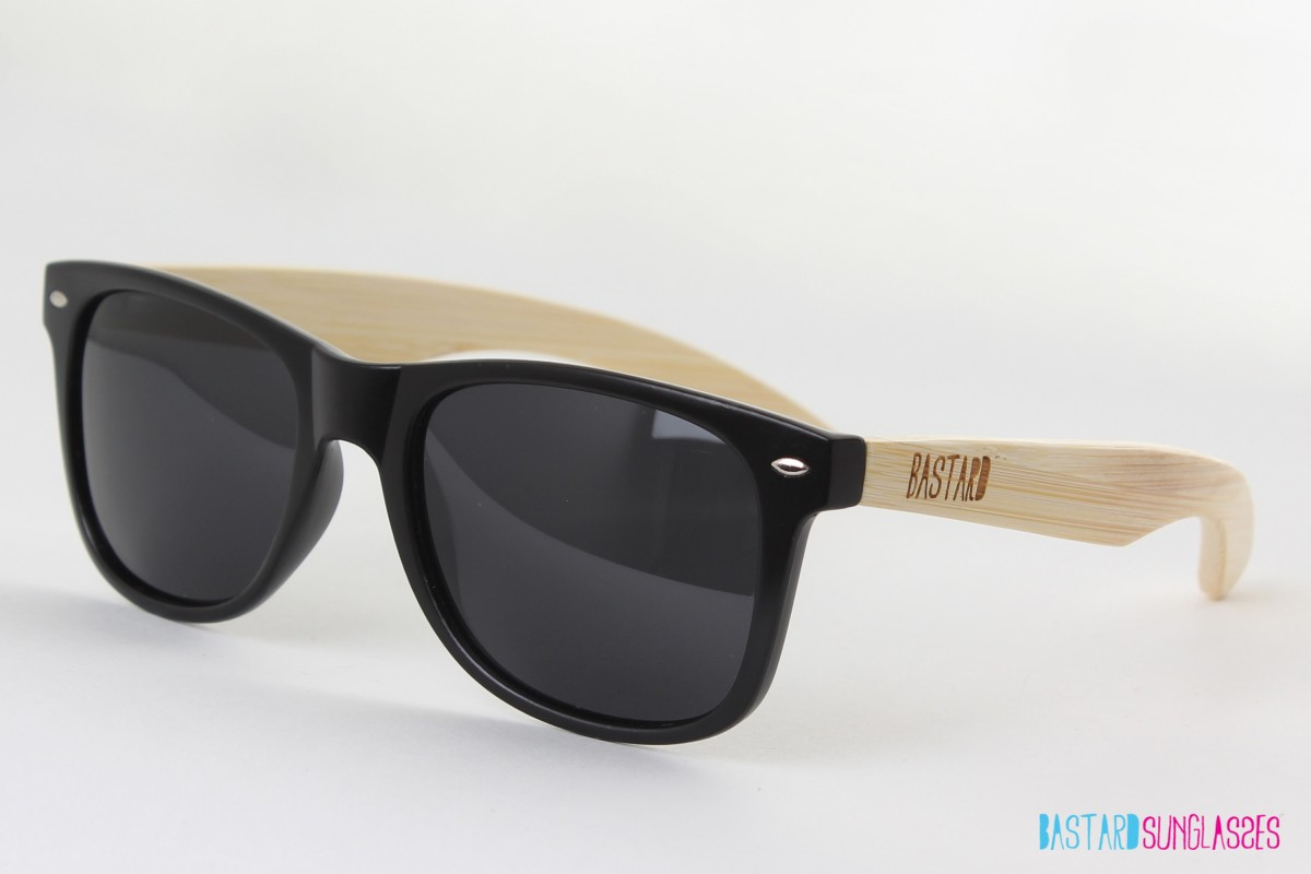 Bamboo Sunglasses - The Blues Brother, Black - Bastard Sunglasses