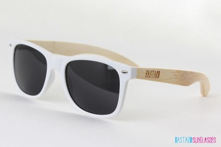 Bamboo Sunglasses - The Blues Brother, White - Bastard Sunglasses