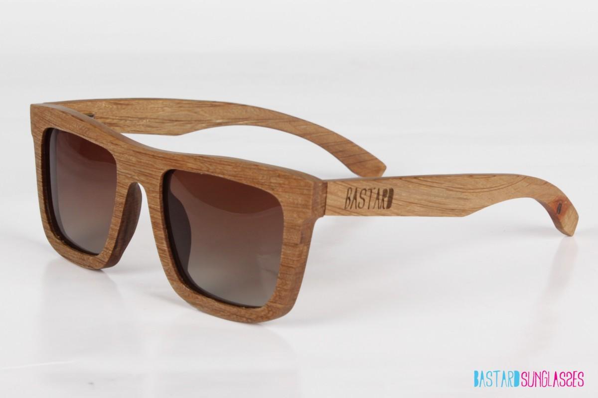 Wooden Sunglasses - The Timber, Chocolate/Brown - Bastard Sunglasses