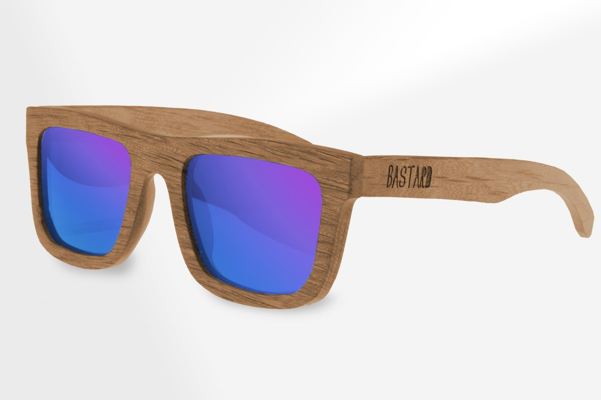 Houten Zonnebril - The Timber, Blue Curacao - Bastard Sunglasses
