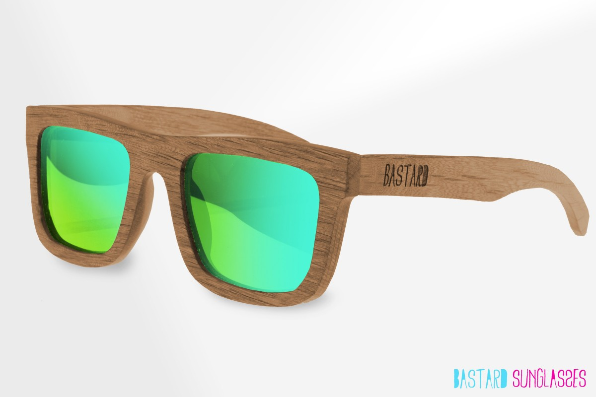 Wooden Sunglasses - The Timber, Frogeye - Bastard Sunglasses
