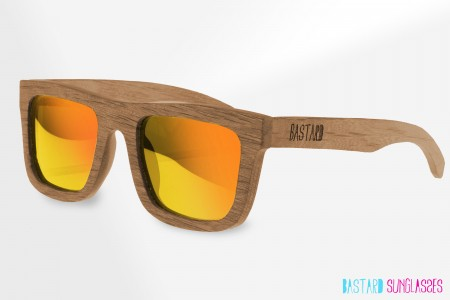 Houten Zonnebril - The Timber, Ibiza Sunrise - Bastard Sunglasses