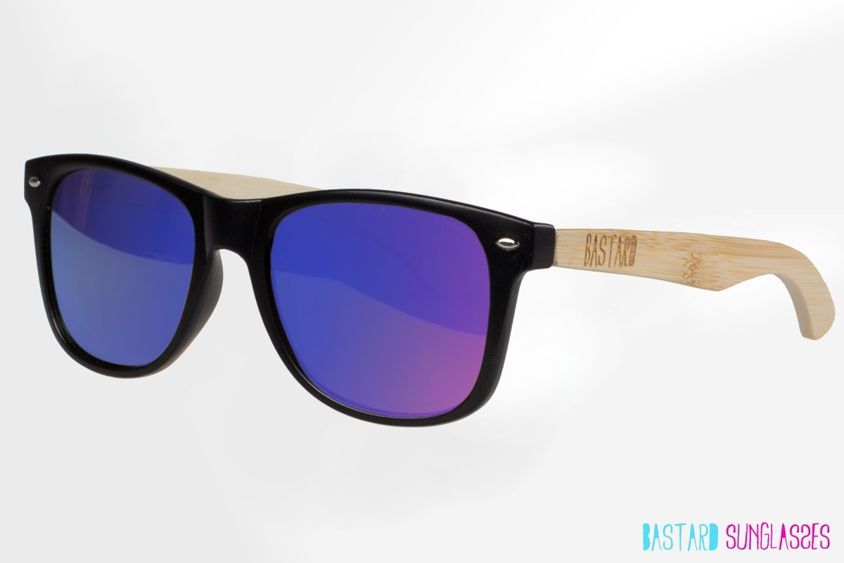 Bamboo Sunglasses - The Blues Brother, Blue Curacao - Bastard Sunglasses
